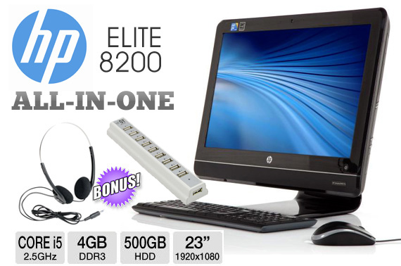Ex-Lease HP Elite 8200 All-in-One 23
