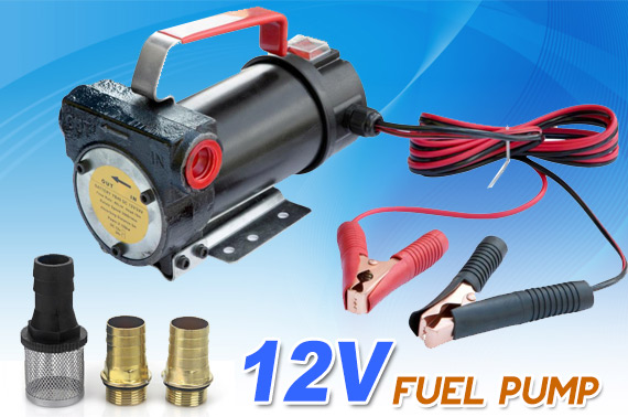 Self-priming 12V Fuel Oil Diesel Transfer Pump 40L/min