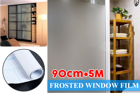 Frosted Removable Windows Glass Film 90cm*5m