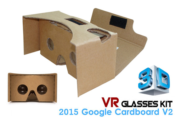 Google Cardboard V2.0 3D VR Glasses Virtual Reality DIY Kit