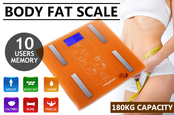 Multifunctional Digital Body Weight/Fat Scale with LCD Display