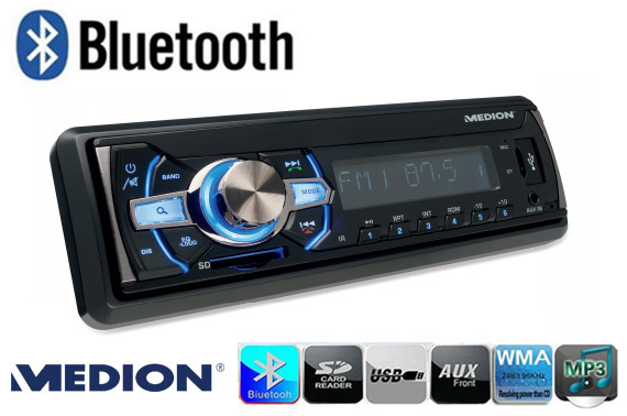Refurbished MEDION Deckless Car Stereo with Bluetooth