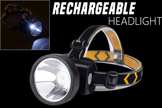 Rechargeable 30000 Lumens 2 Mode LED Headlight