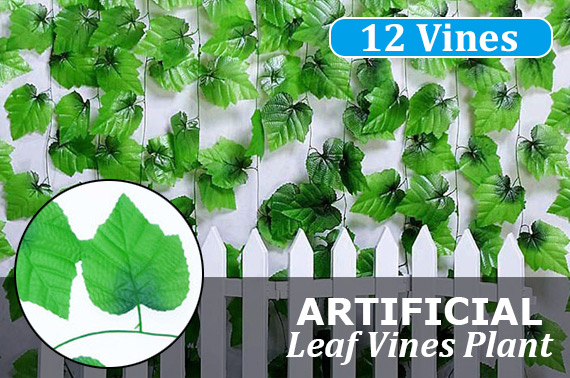 12pcs 2.4M Artificial Leaf Vines Plant