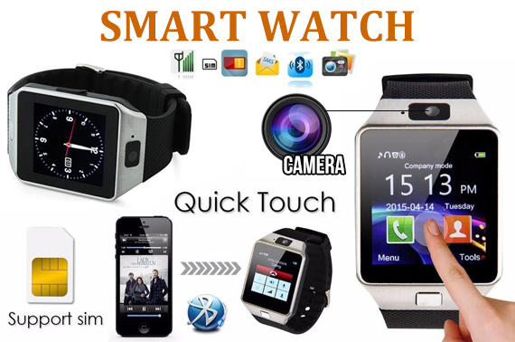 Smart Wrist Watch SIM Phone DZ09 w/ Bluetooth & Camera