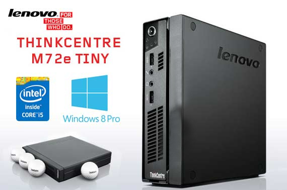 Ex-Leased Lenovo ThinkCentre M72e Tiny Desktop PC
