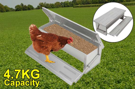 Aluminum Automatic Chicken Food Feeder