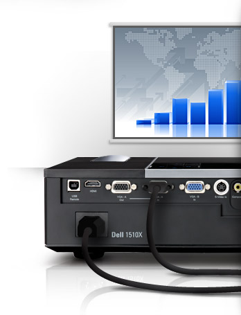 Dell 1510x Projector-Affordable Connectivity