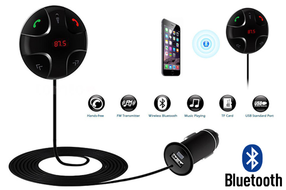 Wireless Bluetooth Handsfree Audio Car Kit w/ Mic