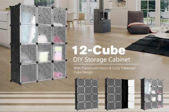 DIY 12 Cube Curly Patterned Storage Wardrobe