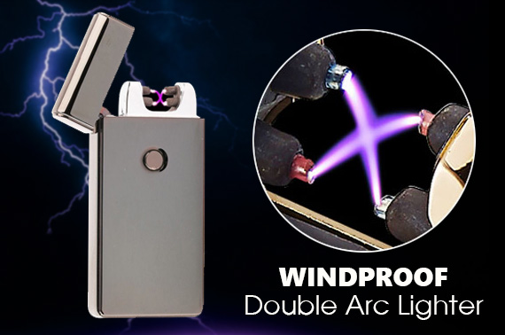 Windproof Double Arc USB Rechargeable Lighter