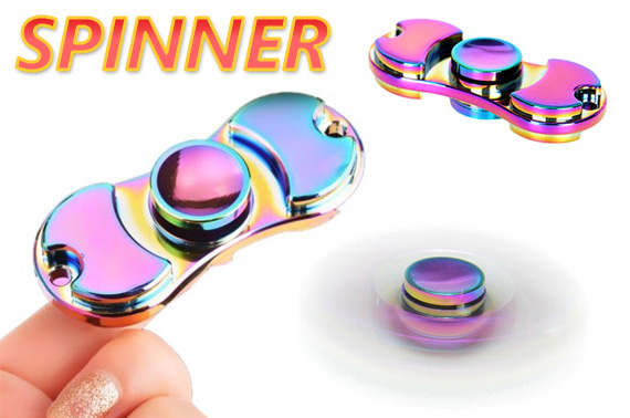 FREE Ozstock Day: Rainbow Color 2 Sides Fidget Hand Spinner