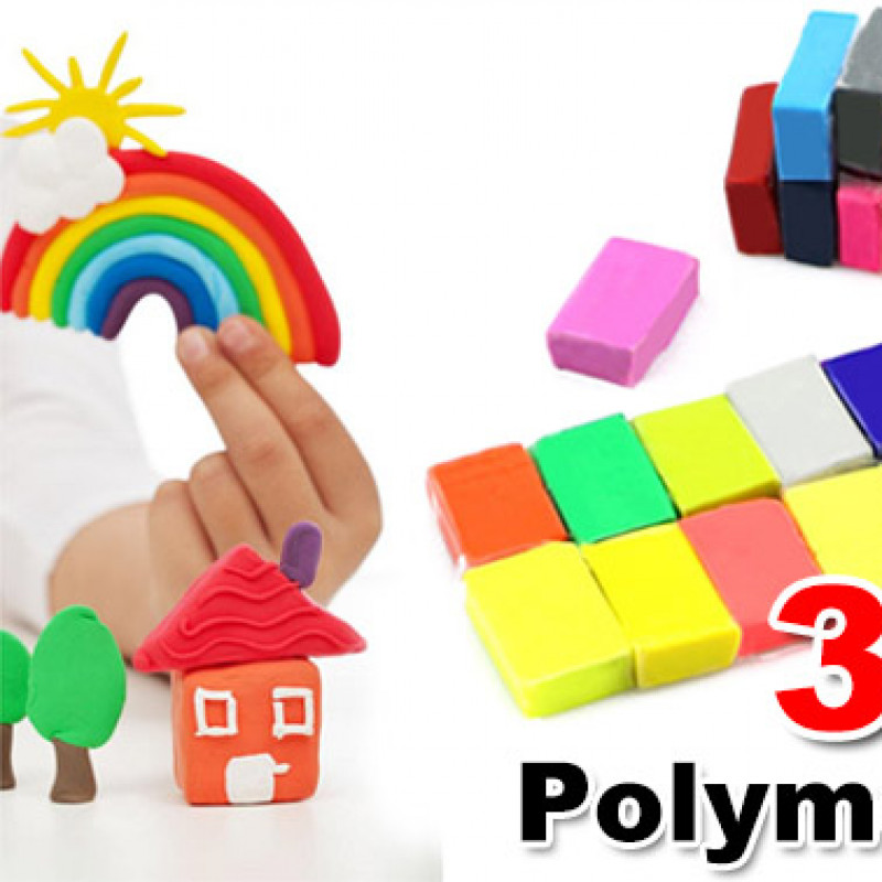 32PCS Craft Polymer Clay Moulding DIY Toy