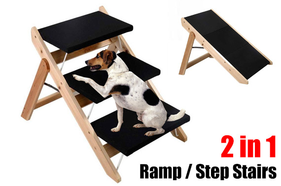 3 Steps Foldable Pet Dog Cat Stairs Ladder