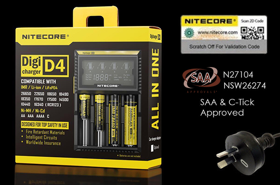 Nitecore D4 Digicharger Smart Battery Charger with LCD