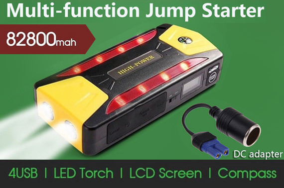 82800mAh PORTABLE JUMP STARTER BOOSTER BATTERY CHARGER POWER BANK VEHICLE CAR