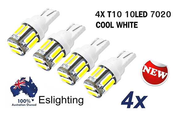 FREE Ozstock Deal: 4X WHITE T10 7020 SMD 10 LED TAIL SIDE CAR LIGHTS BULB
