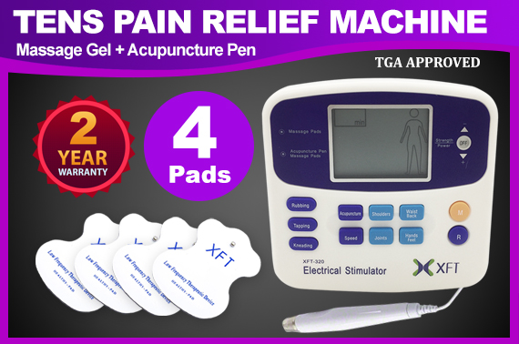 Electrical Physio Tens Machine XFT-320A Massager w/ 4 PADS
