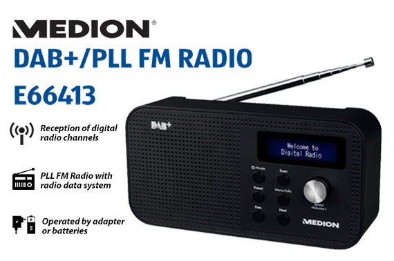 Refurbished Portable Medion DAB+/PLL FM Radio