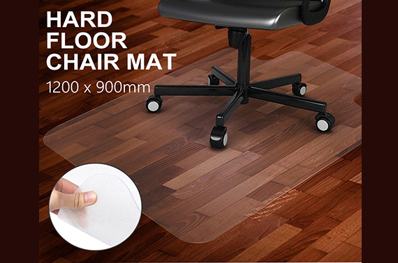 Carpet Floor Chair Mat Vinyl Plastic Protector 120x90cm