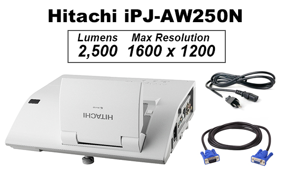Refurbished Hitachi iPJ-AW250N 2500LM Ultra Short Throw Projector