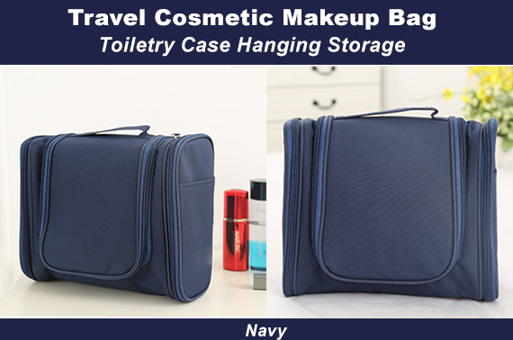 Travel Cosmetic Makeup Bag Toiletry Case Hanging Storage Large Bag Organizer