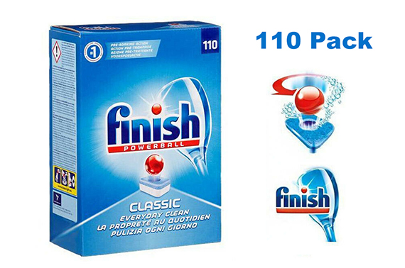 FINISH CLASSIC DISHWASHING TABLETS REGULAR POWERBALL 110 PACK