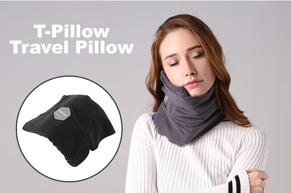 T-Pillow Portable Soft Comfortable Travel Neck Support