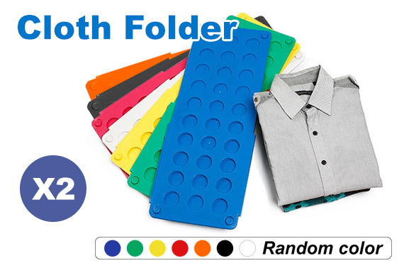2x Clothes Folder Kids Fast T-Shirts Magic Folding Board