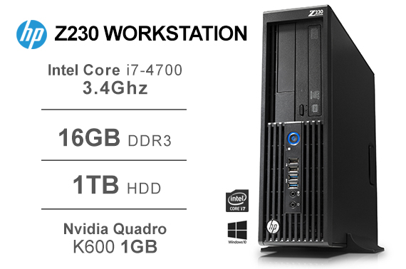 Refurbished HP Z230 Workstation SFF i7-4770 3 4GHz 16GB 1TB
