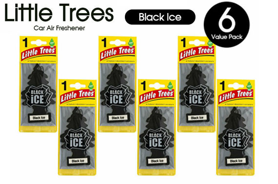 6x New Little Tree Car Vehicle Air Freshener - Black Ice