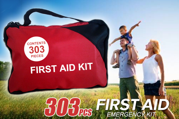 303 Piece Emergency First Aid Kit