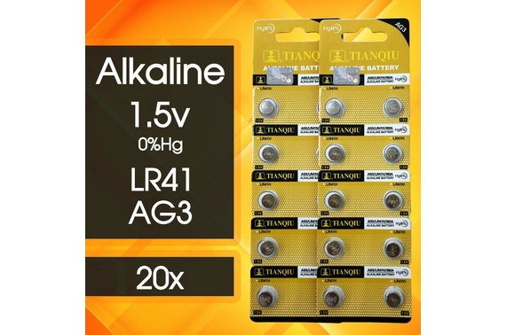 20x LR41 Battery 1.5V Alkaline Button Cell Batteries 192/AG3/392 Mercury