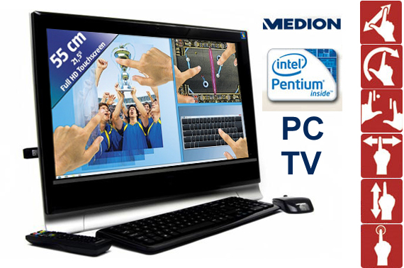 Ex-Demo Medion AKOYA P4020 D All-In-One PC/Entertainment Centre with Multi-touch Widescreen Display