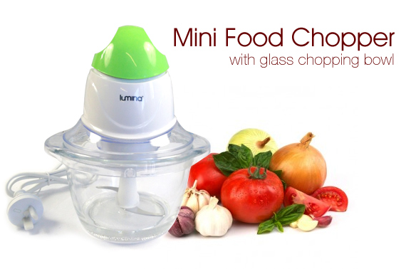 Mini Food Chopper with Glass Chopping Bowl