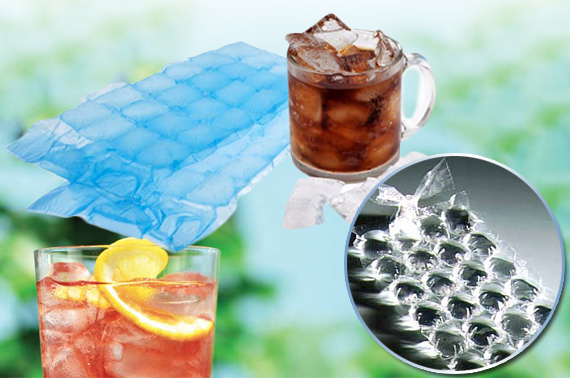 24x Disposable Ice Cube Bag - Makes Total of 672 Ice Cubes!