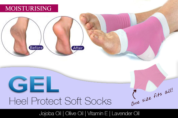 Moisturising Gel Heel Sock (1 Pair)