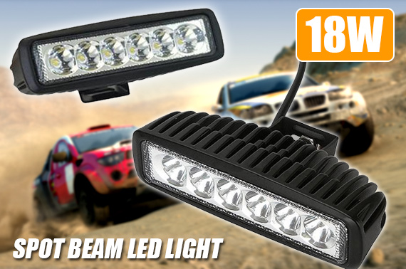 18W Super Slilm Spot Beam LED Light Bar