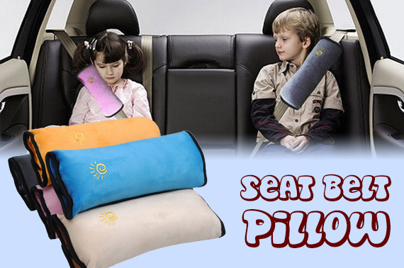2x Children Safety Car Seat Belt Pillow