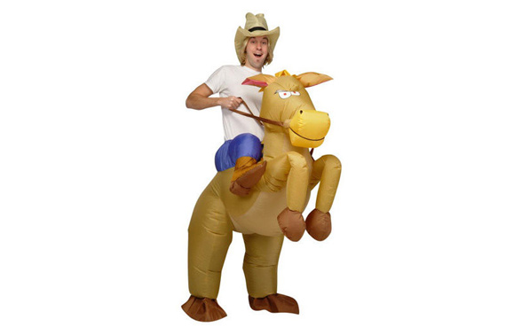 COWBOY Fancy Dress Inflatable Suit - Fan Operated Costume