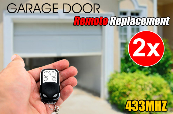 2x Universal Electric Garage Door Remote Control Replacement 433MHz