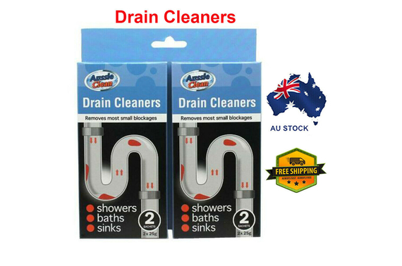 Aussie Clean Drain Cleaners Twin Pack (2 x 25g Per Pack) AU STOCK