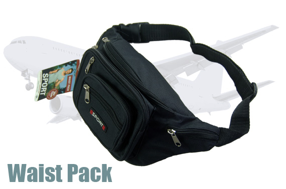 Quality Bum Bag with 8 Zipped Compartments