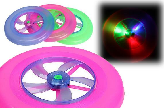 Colourful Flying Frisbee with Spin LED Light