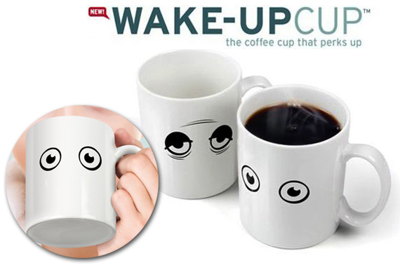 Wake-Up Heat Sensitive Coffee Mug
