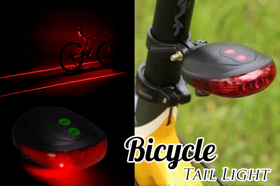 Laser and LED Bicycle Tail Light