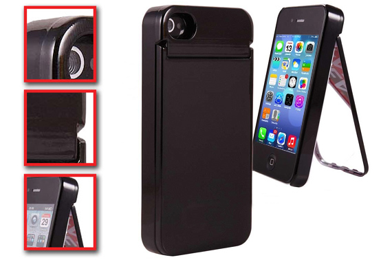 iPhone 5/5S Case with Flip Mirror & Card Holder