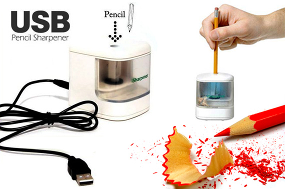 USB Automatic Pencil Sharpener with Flashed LED