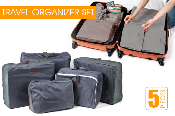 5-Piece Travel Luggage Organizer Bag Set
