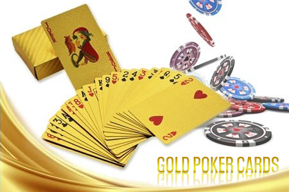 24k 99.99 Genuine Gold Plated Poker Cards
